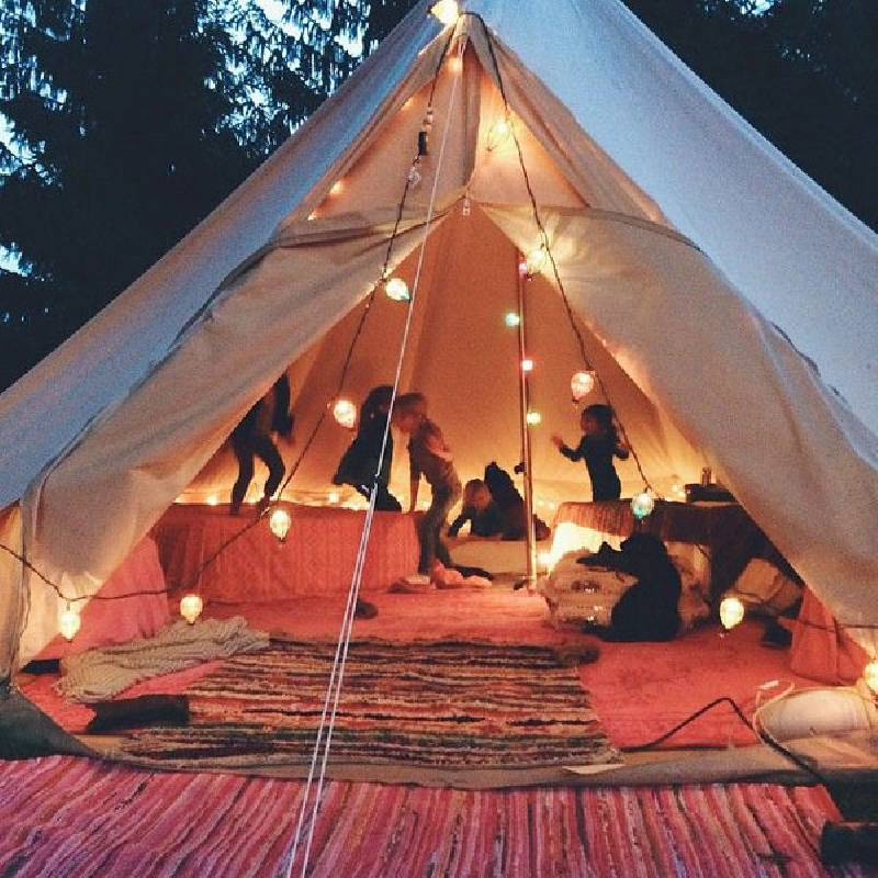 camping anniversaire